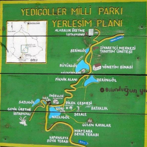 Yedigöller Milli Parkı Yerleşim Planı